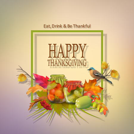 Vector Thanksgiving Card