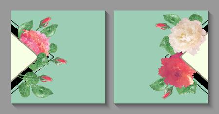 Vector Flower Card