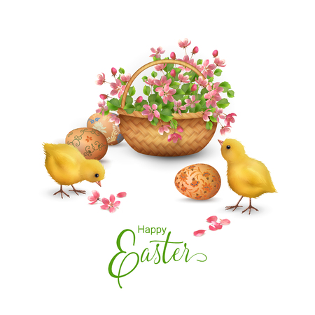 Happy Easter Card Illustration