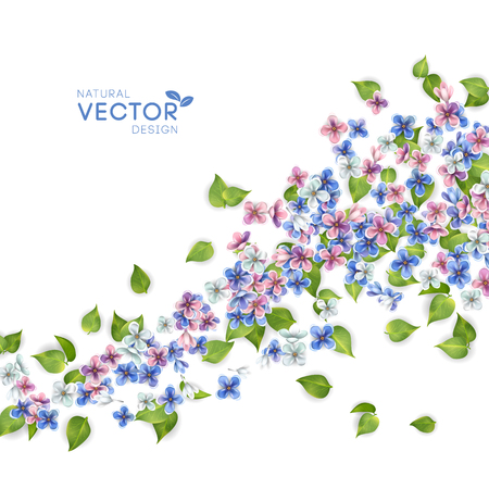 Vector Flying Flowers