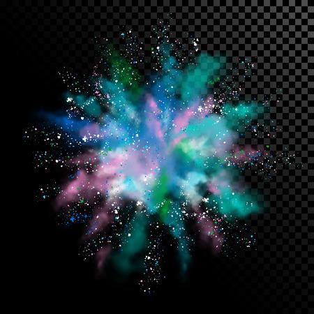 Explosion of White Powder