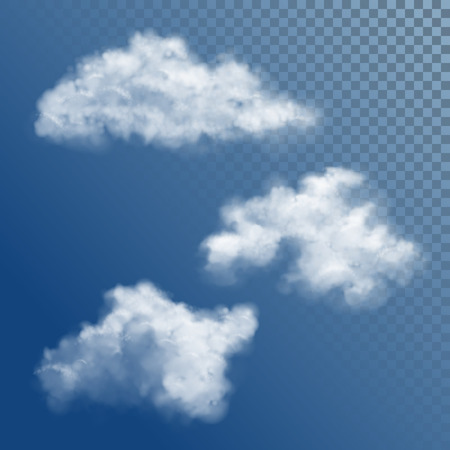 Transparent White Vector Cloud Ilustrace
