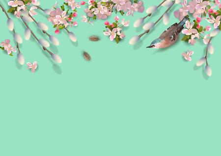 Fond de vecteur de printemps