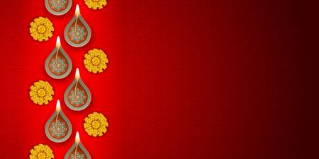Diwali festival background Stockfoto - 110132924