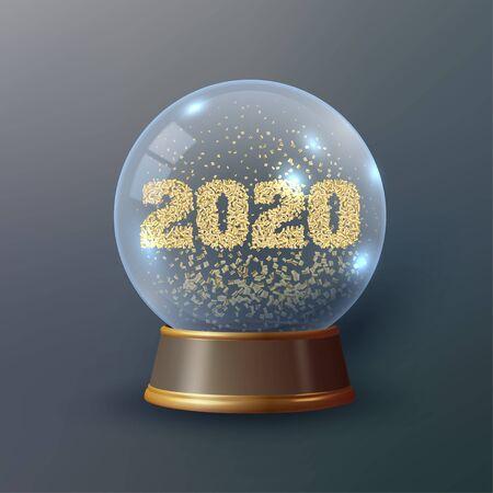 Snow Globe or Christmas ball Çizim
