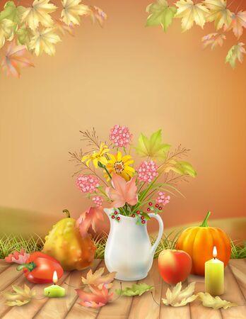 Herfst seizoen poster
