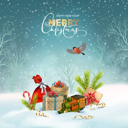 Christmas Holiday Background Illustration