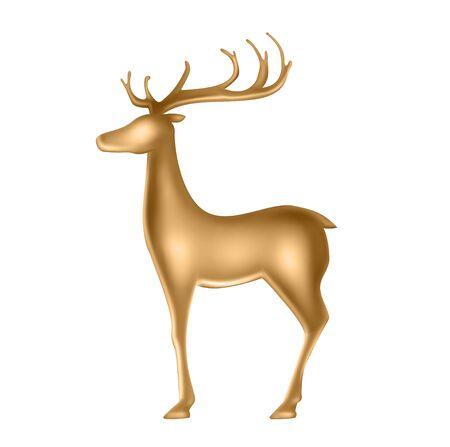 Golden Deer Statuette