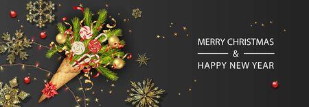 Festive Christmas Background Vektoros illusztráció