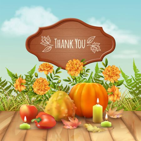 Happy Thanksgiving Greeting Card Illustration