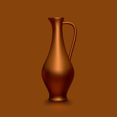 Old copper jug