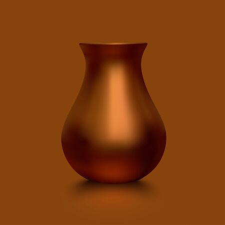 Old copper vase Ilustrace