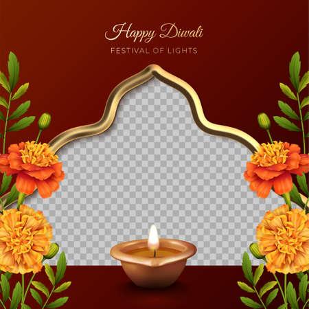 Diwali Festival Card design 向量圖像