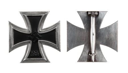 The German iron cross of 1 class. isolated, on a white background Stock Photo - 8598758
