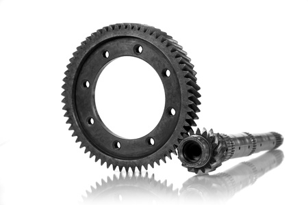 Image transmission gear, isolated on a white background  Stock Photo