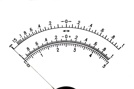 The image of a scale of the measuring device, isolated, on a white background photo