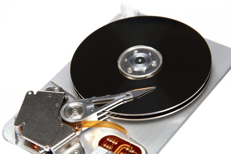 Image the hard drive, isolated on a white background photo