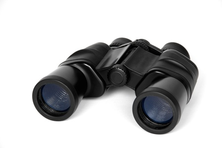 Binoculars, isolated on a white background