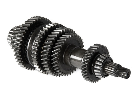 Transmission gears , isolated, on a white background Stock Photo - 9136746