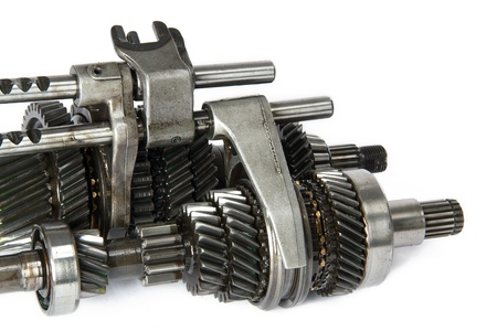 gearbox: Transmission gears , isolated, on a white background