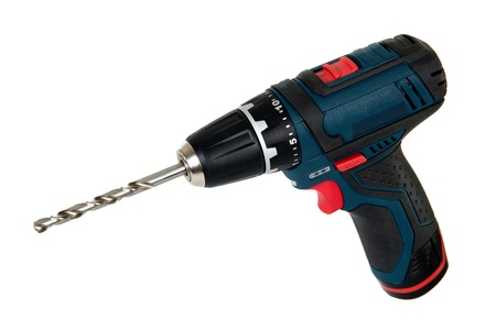 Cordless power tools, isolated on a white background