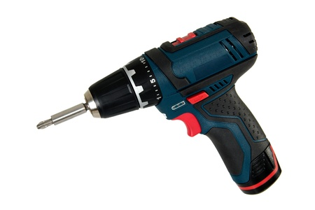 Cordless power tools, isolated on a white background Stock Photo - 10262532