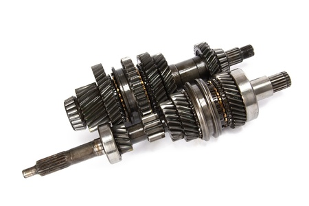 Transmission gears , isolated on a white background photo