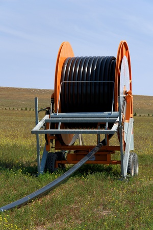 Spool of Irrigation Pipe