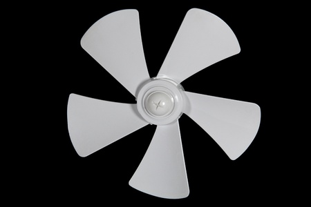 Impeller fan isolated on a black background Stock Photo