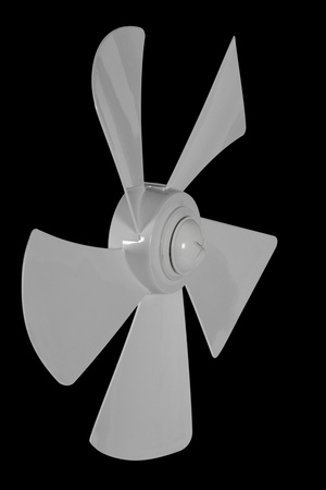 impeller: Impeller fan isolated on a black background Stock Photo
