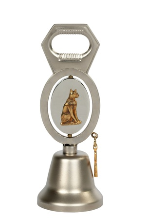 Bottle opener in the form of a bell, isolated on white background Stock Photo - 11930015
