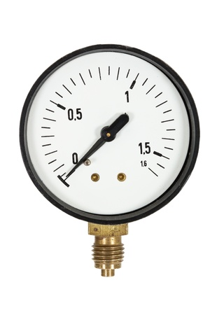 Pressure meter isolated, isolated on white background Stock Photo