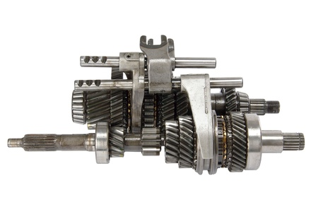 gearbox: Transmission gears , isolated on a white background