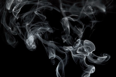 Abstract smoke, isolated on a black background