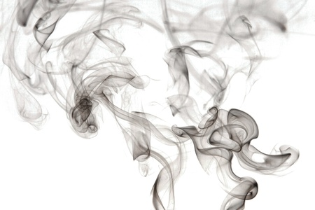 Abstract smoke, isolated on a white background  photo