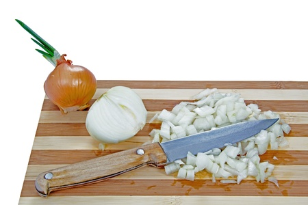 Cooking onion, isolated on white background