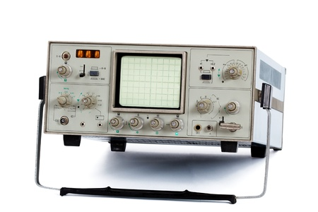 Oscilloscope, isolated on a white background Stock Photo