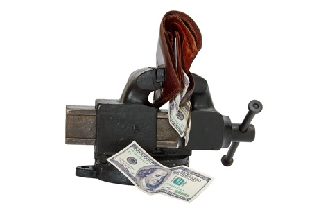 Table vise squeezing Dollars