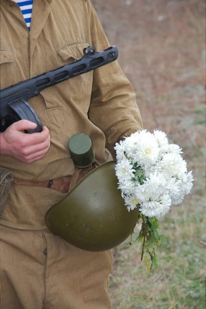 Outfit a Russian soldier during the Second World War Stock Photo - 14461473