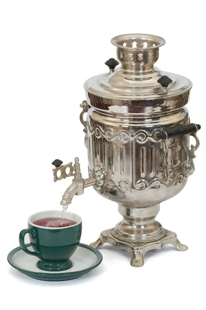 Russian samovar, isolated on a white background