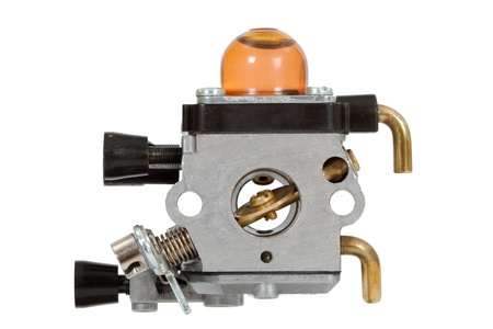 Carburetor - part of the fuel system of gasoline internal combustion engine Stock Photo - 15634774