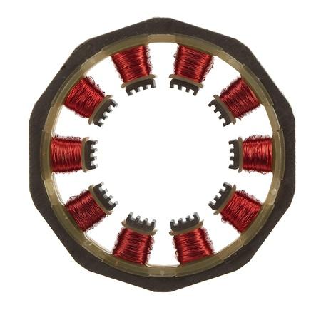 windings: Motor windings, isolated on white background