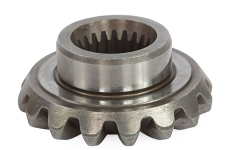 bevel: Conical pinion, isolation on a white background, with clipping path