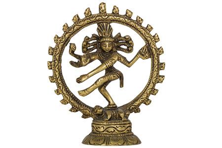 Shiva Nataraja,  isolated on white background