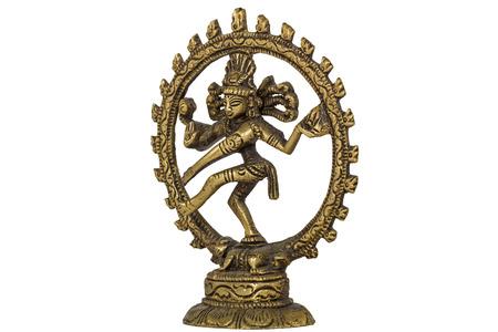 nataraja: Shiva Nataraja,  isolated on white background Stock Photo