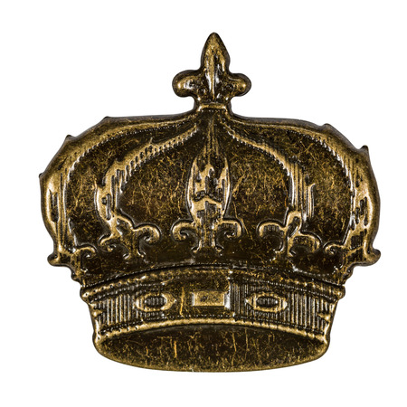 Crown, element for scrapbooking, isolated on a white background, with clipping path Фото со стока