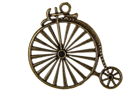 manual work: Bicycle, decorative element for manual work, isolated on white background
