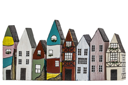 dollhouse: Toy houses, isolated on white background