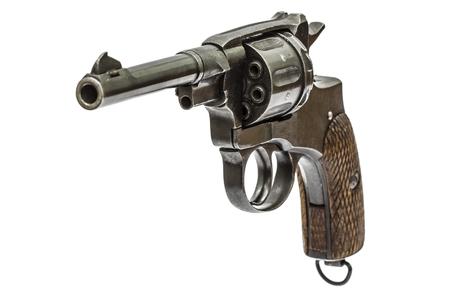 barrel pistol: Old pistol, Isolated on white background
