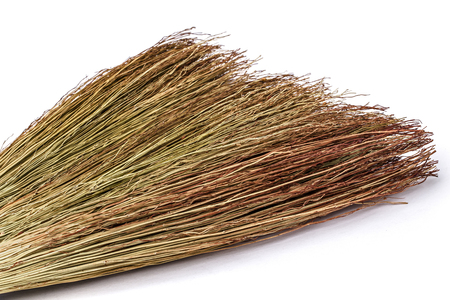 besom: Besom close-up, isolated on white background